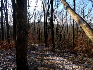 Winter hiking makes for great views of neighboring ridges