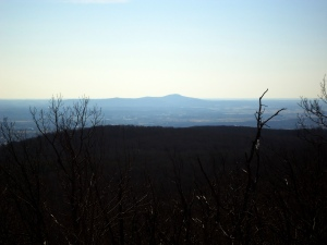 View of Sugarloaf Mountain in Comus, Maryland.