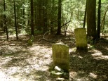 Proud Family cemetery...5 minute walk off the trail...must see!