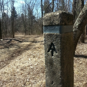 Turn off for the Piney Ridge trail.