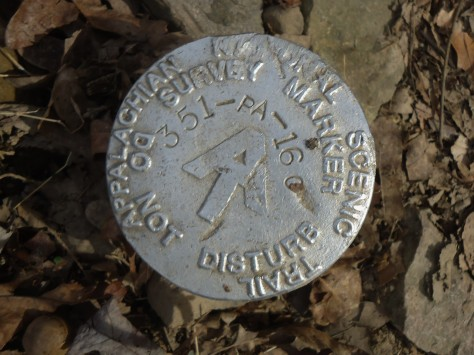 Ahhh, my favorite type of find...a survey marker.