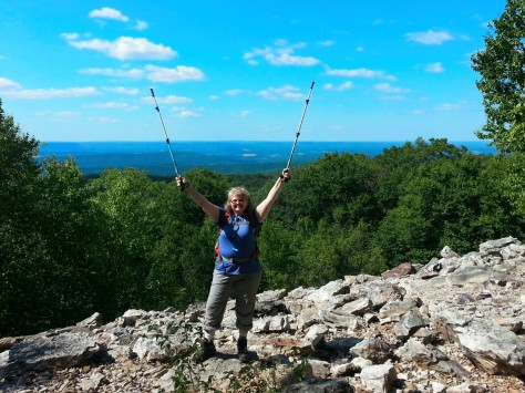 Feeling pretty triumphant at Auburn Overlook.