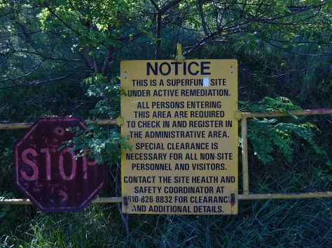Superfund Sign To find out more about Palmerton & Environmental Travesty caused by Zinc Smelting you can access the Lehigh Gap Nature Center Site  http://lgnc.org/conservation