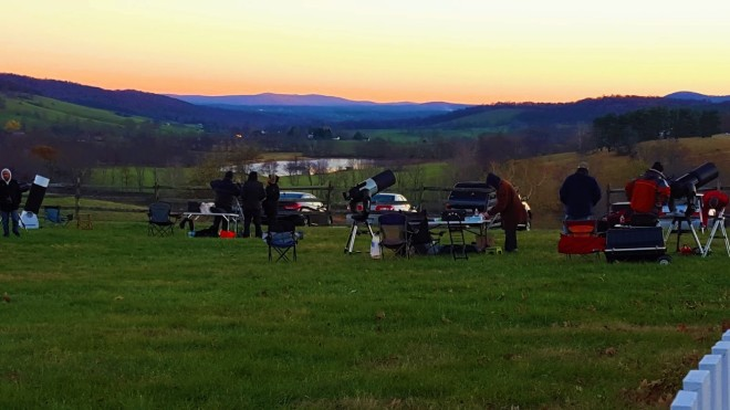 Star Party at Sky Meadows State Park, VA.  Just look at those set ups!