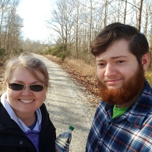 Logan and I on the trail!